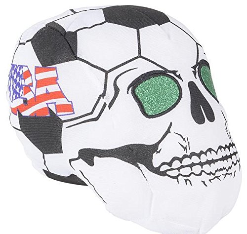 9'' USA SOCCER BALL SKULL HEADS, Case of 24 by DollarItemDirect