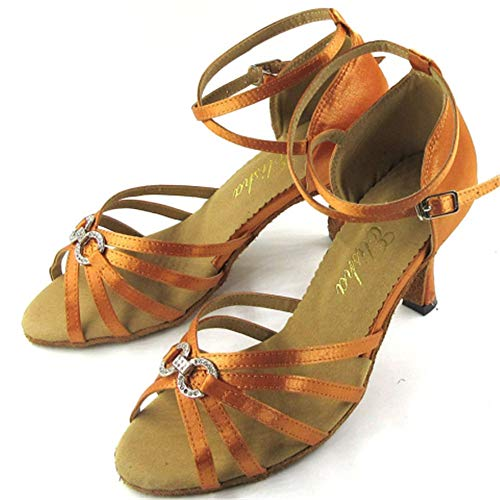 Interiores Damas Para Zapatos Suave De Dorado Antideslizantes 38eu Latinas Hccy Baile Satén qtIxRwqOz