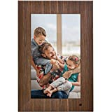 NIX Lux 13 Inch Digital Photo Frame X13B Wood - Wall-Mountable Digital Picture Frame with IPS Display, Motion Sensor, USB and SD Card Slots and Remote Control, 8 GB USB Stick Included