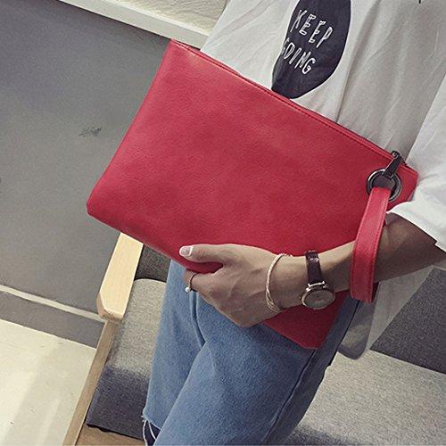 Meliya - Cartera de mano para mujer, gris (gris) - HY-snb-00078-01YA Red