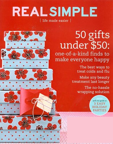 Make life easier with Real Simple's smart, practical, beautiful solutions. Each inspiring issue is packed with fast and delicious recipes, organizing and decorating ideas, great fashion and beauty finds, money-saving tips, and more.