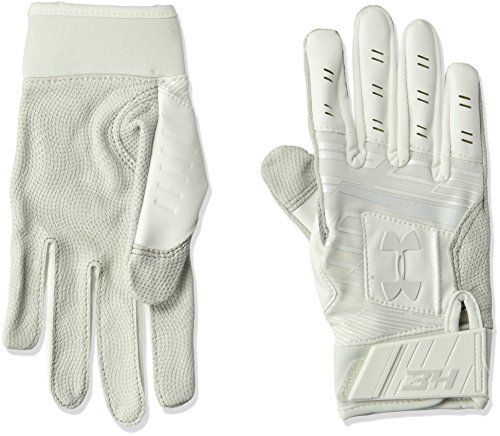 95604e2b0c Under Armour Boys Harper Hustle Youth 18 Glovess, White (100)/Aluminum,  Youth Small