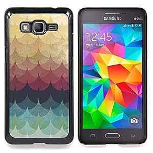BullDog Case - FOR Samsung Galaxy Grand Prime G530H G5308 - Feather Rainbow Colors Pastel - Dise???¡¯???¡Ào para el caso de la cubierta de pl???¡¯????s