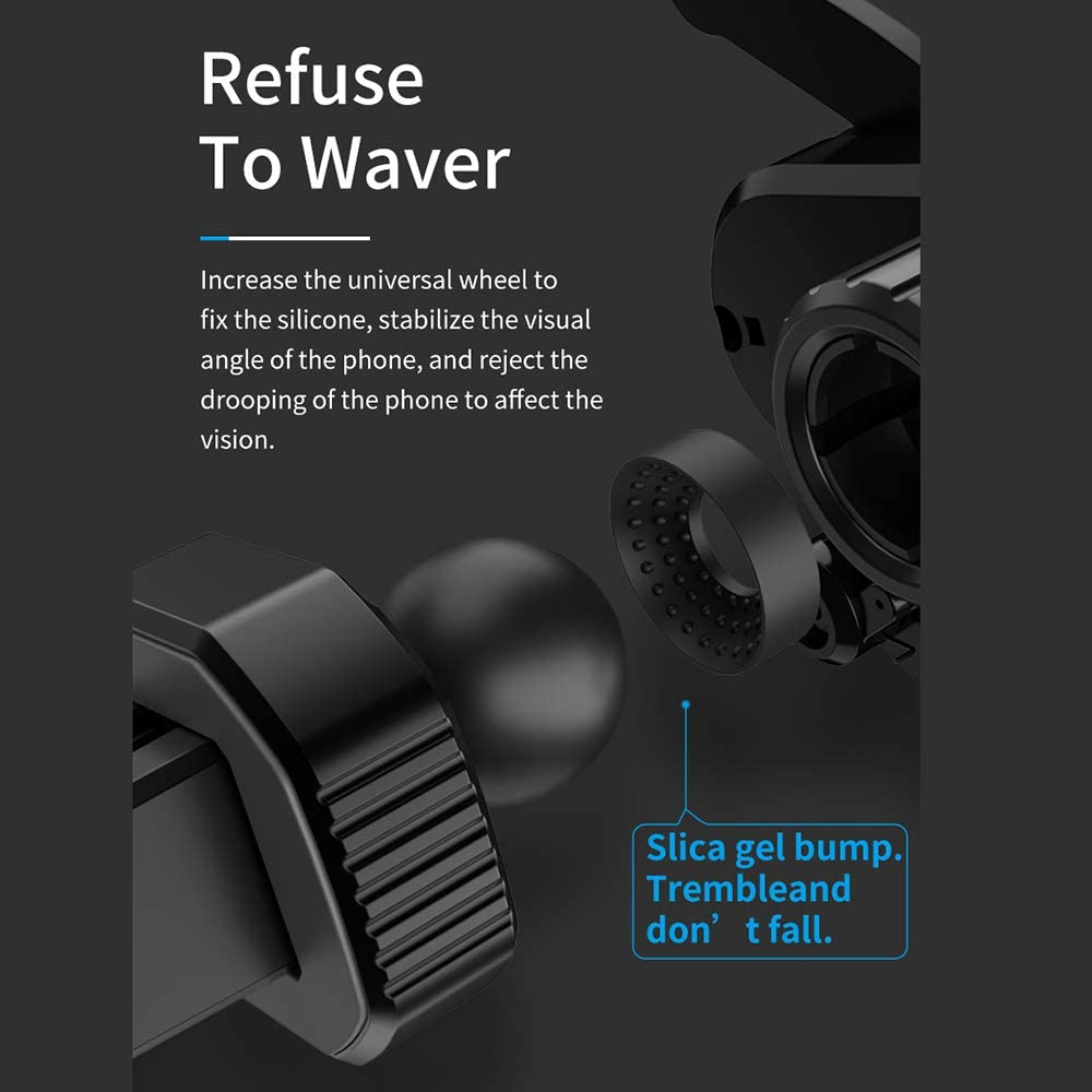 AMAYGA Air Vent Car Phone Holder Universal Air Outlet Car Phone Bracket Phone Car Gravity Mount for iPhone 11 Pro Max Xs Max XR X 6S 7 8 Plus Samsung Galaxy S9 S7 Edge S8 S10 S6 Smartphone