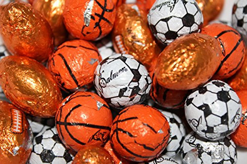 Assorted Chocolate Sports Balls Candy Baseballs Basketball Soccer Football Candy (2 Pounds) for $<!--$17.99-->
