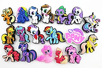 ea2c74ae7 Image Unavailable. Image not available for. Colour  18pcs Cute My Little  Pony Party Gifts Shoe Charms for Croc   Wristband Bracelet