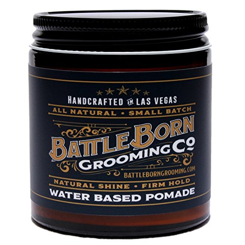 Pomade Organics (Pomade by Battle Born Grooming Co | All Natural Unorthodox Water Based Pomade | 4 oz | 113 g)