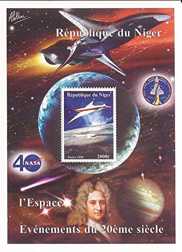 Niger Post 1998 20th Century Events Space NASA Stamp Souvenir Sheet 14A-512