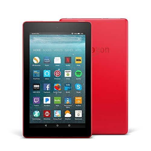 All-New Fire 7 Tablet with Alexa, 7' Display, 8 GB, Punch Red - with Special Offers