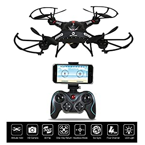 Holy Stone F183W Wifi FPV Drone with 720P Wide-Angle HD Camera Live Video RC Quadcopter with Altitude Hold, Gravity Sensor Function, RTF and Easy to Fly, Compatible with VR Headset by Holy Stone