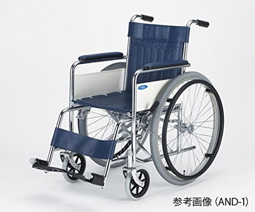 日進医療器8-4968-02車椅子(自走式/スチール製/ノーパンクタイヤ/ボンベ架付き) B07BD2FKNF
