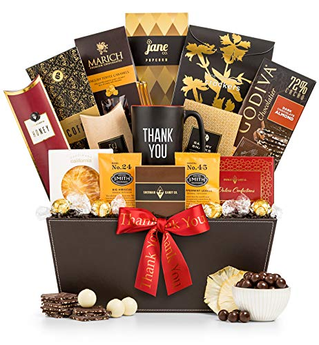GiftTree Deluxe Thank You Selection Gift Basket | Thank You Mug with Sweet and Savory Snacks | Show Your Appreciation to a Friend, Client or Colleague ()