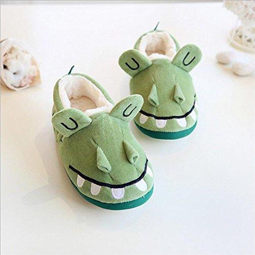 Candora - Zapatillas de estar por casa de peluche para mujer verde verde M