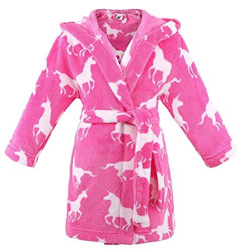 Verabella Girls Robe Plush Super Soft Fleece Hooded Bathrobes Sleep Robe  2a8fb50a7