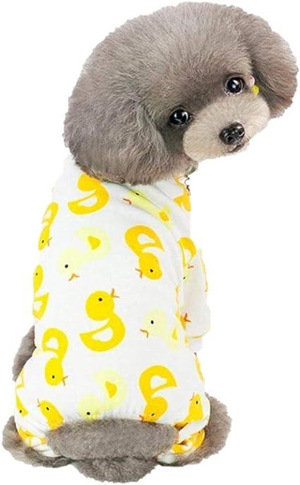 Ducomi Piji - Pijama para perros de algodón de talla pequeña y mediana - Pijama para gatos con 4 patas - Conjunto de disfraz de animales domésticos - ...