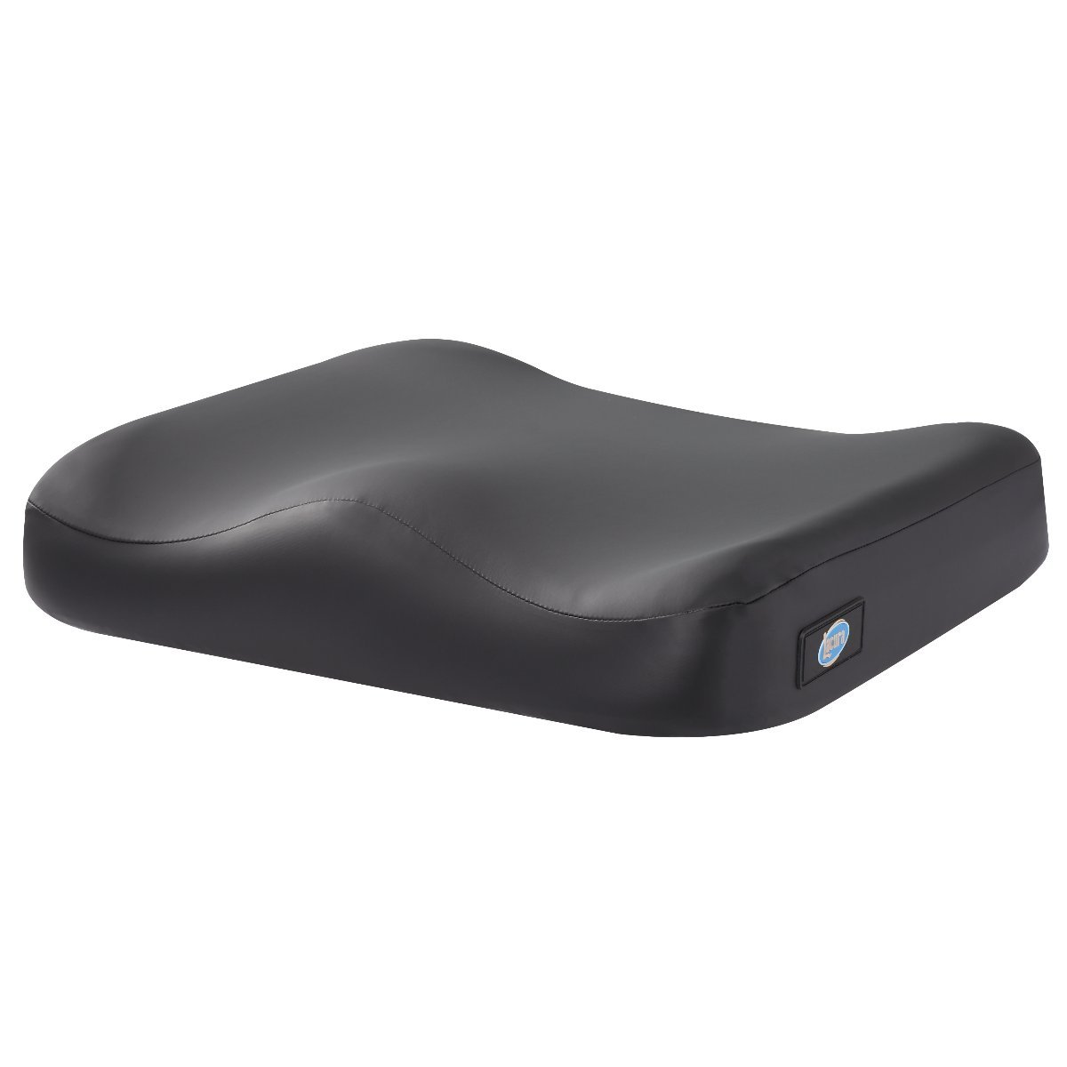 Lacura Profile Cushion, Seat Pillow that Contours the Lower Body to Provide Comfort and Support, Antimicrobial Cover with Attachment Straps, Useful for Seat and Wheelchair Comfort