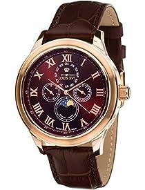Louis XVI Men's-Watch Élysée le Grand l'or Rose brun Swiss Made Moonphase Analog Quartz Leather Brown 556