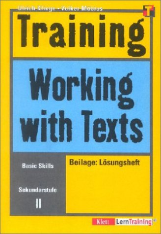 Training, Working with Texts, Sekundarstufe II