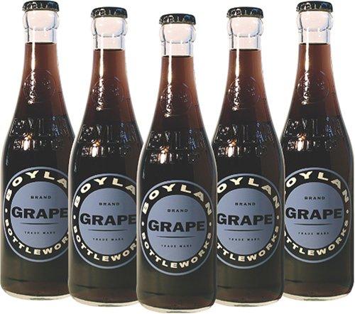 Soda Cane Sugar - Boylan Bottleworks Grape Soda, 12 Ounce (12 Glass Bottles)