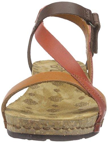 Marrón Art de Sandalias Brown Pompei Multi Tobillo Mujer P48UXWn4