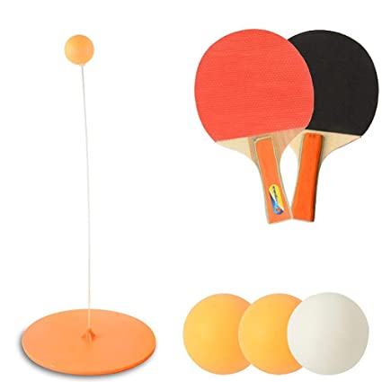 Indoor Or Outdoor Play Fixed Shaft Rapid Rebound Machine For Ping Pong Ball Training Elastic Soft Shaft Table Tennis Toy MOGOI Table Tennis Trainer