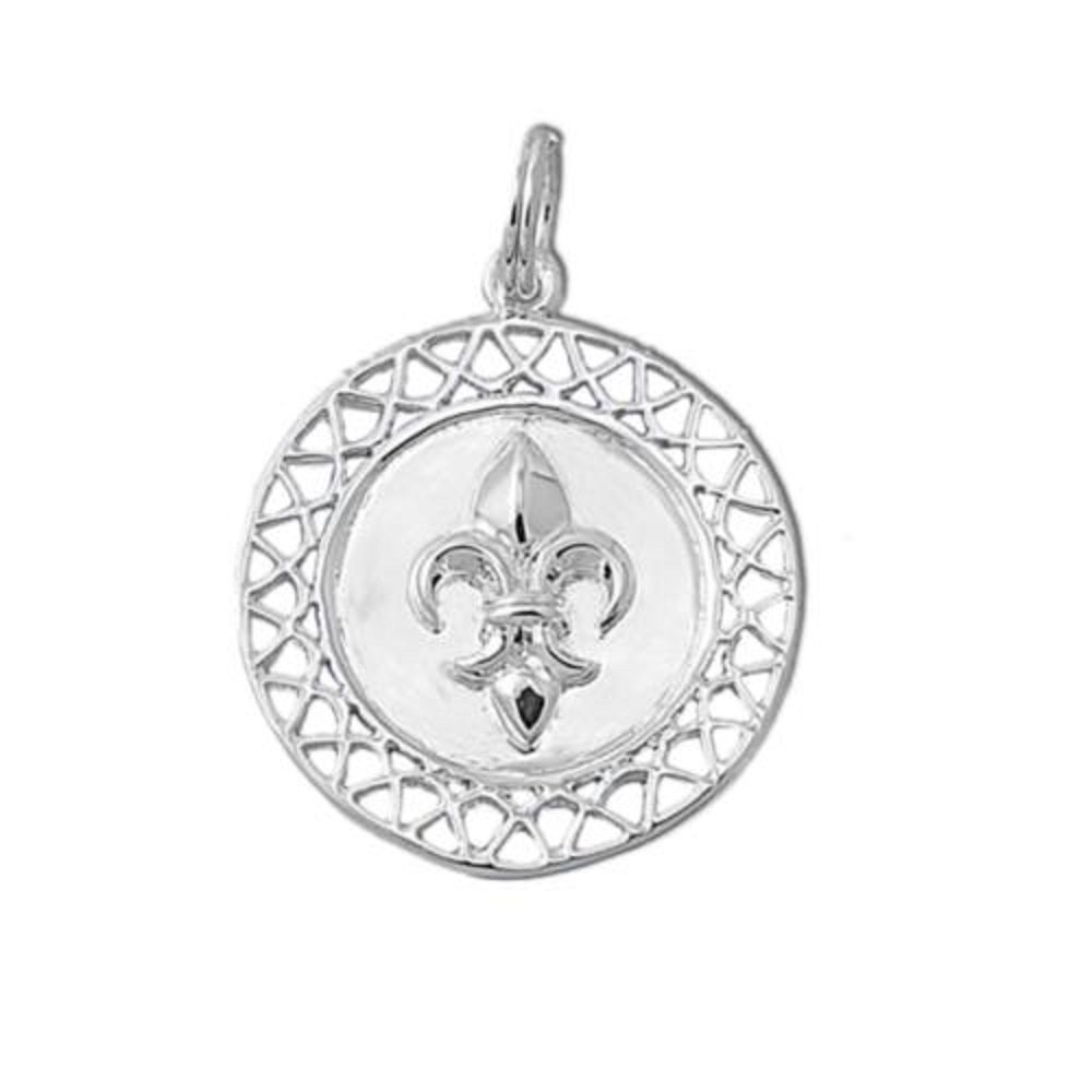 CloseoutWarehouse Sterling Silver Knights of the Fleur De Lis Pendant