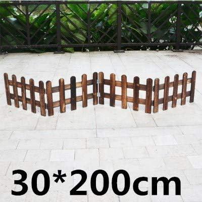 Shoppy Star Valla de Madera antiséptica para jardín, Valla de Madera, balcón, decoración de Patio, Valla de Madera para jardín, 30 cm de Altura.: Amazon.es: Jardín
