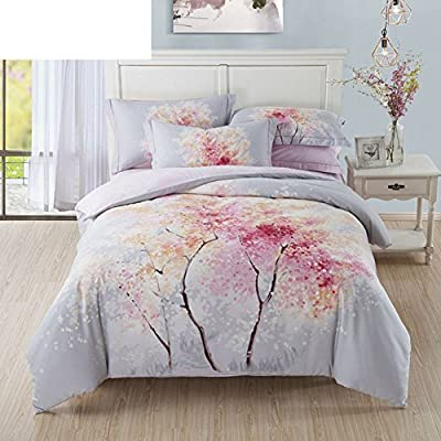 DACHUI Cotton bed sheets - 1800 beds fade, stain resistant - Hypoallergenic - 4 units (single)-U Queen 1.