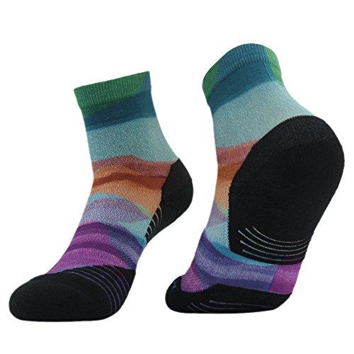 HUSO Mens Digital Printing Funky School Uniform Athletic Running Breathable Socks (Athletic Running Uniform)