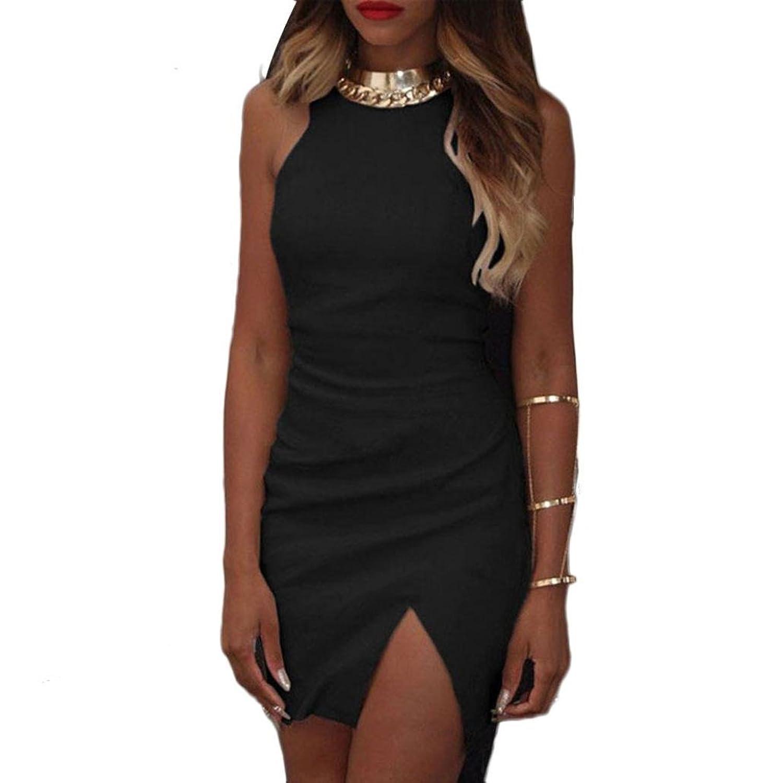 Sunward Sexy Women High Neck Bandage Short Mini Dress