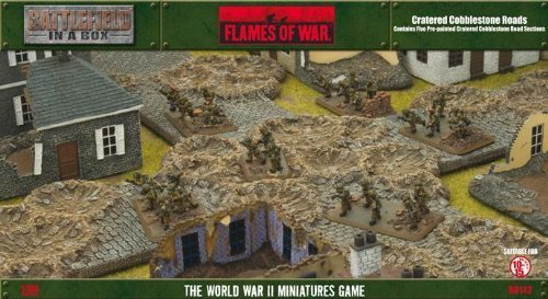 Flames of War Model Kit - Painted Craterot Cobblestone Roads - 1 100 Scale BB142 by Flames of War