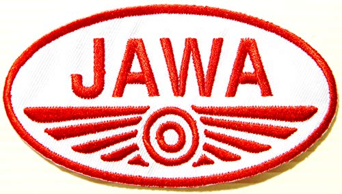 JAWA Motorcycles Biker Racing Patch Iron on Sewing Embroidered Applique Logo Badge Sign Embelm Art Craft Decorative Gift