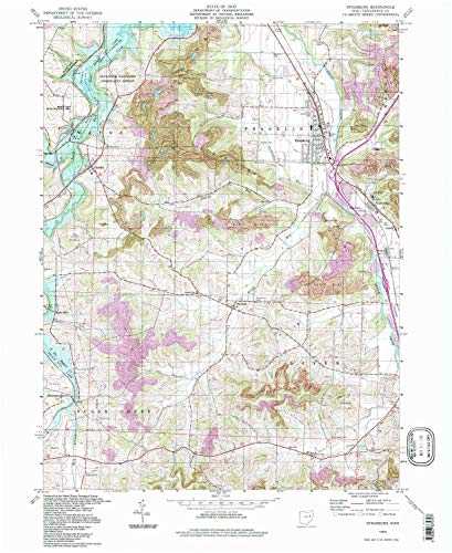 (YellowMaps Strasburg OH topo map, 1:24000 Scale, 7.5 X 7.5 Minute, Historical, 1994, Updated 1998, 26.8 x 21.9 in - Paper)