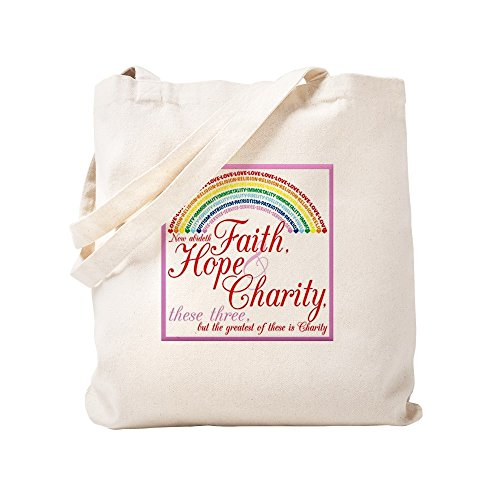 CafePress - Rainbow Girls - Faith Hope Charity - Natural Canvas Tote Bag, Cloth Shopping Bag by CafePress