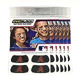 (24 Strips) Eye Black - Arizona Diamondbacks MLB Eye Black Anti Glare Strips, Great for Fans & Athletes on Game Day