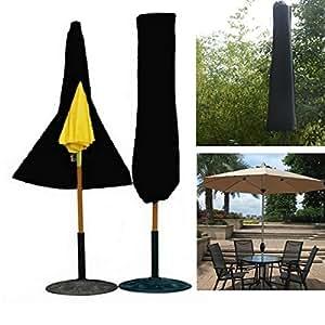 mark8shop Outdoor Yard Jardín paraguas sombrilla, impermeable, cremallera