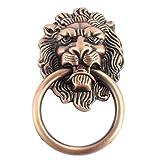 Lion Head Type Dresser Cupboard Door Pull Ring Handle Copper Tone