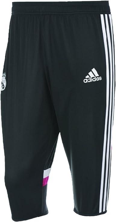 Lirio Llave Cumplimiento a  Amazon.com: adidas Soccer Real Madrid Training Three-Quarter Pants Youth  (XS) Black, Pink: Clothing