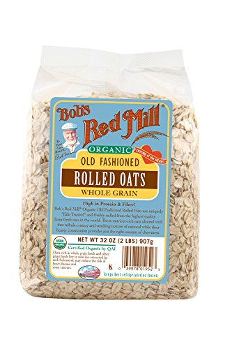 Bob's Red Mill Organic Rolled Oats, 32 Ounces (Pack of 4) (Calories In A Slice Of Banana Nut Bread)