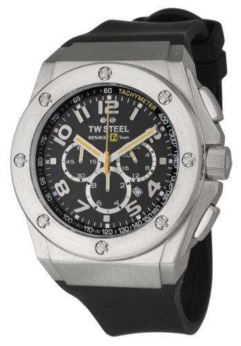 TW Steel Men's TW681 Quartz Stainless Steel Black Dial Watch, Watch Central