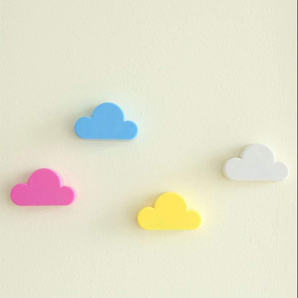 Magnet Sticker Wall Cloud Magnet Hanger Key Key Wall Hook Rails Wall Wall Holder Sticker Hanger Sell Pink Yellow Creative Cloud Shaped Wall Magnetic Keychain Magnets Key Holder Keys