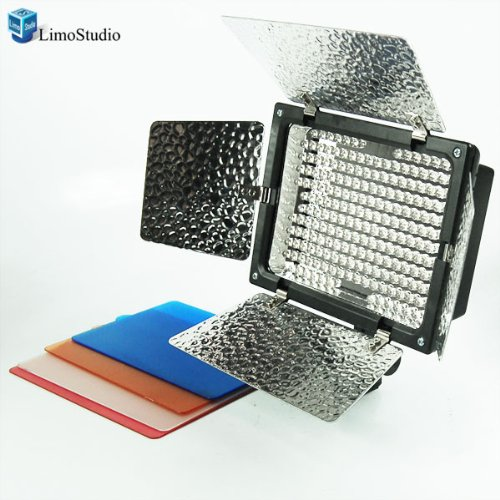 LimoStudio Photo Studio 200 LED Barndoor Photography Video Camera Lighting Kit, 4Color Filters from LimoStudio