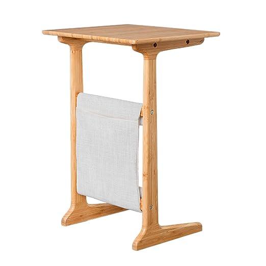 Mesa de cama multifunción, escritorio de madera natural para ...