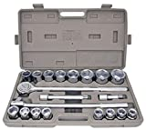 21pc SAE 3/4'' Drive Socket Set w Storage Case Jumbo Ratchet Wrench Extension NEW