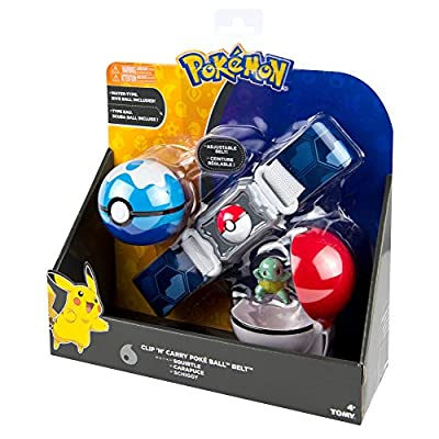 Pokemon Clip N Carry Belt Water Type Role Play Set with Squirtle Action Figure: Toys & Games