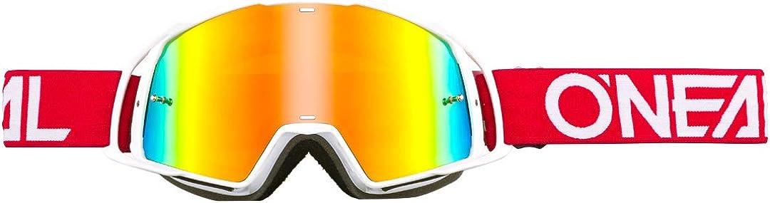 O Neal B20 Flat Goggle Mx Dh Brille Weiß Radium Oneal Bekleidung