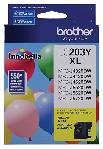 Brother Printer LC203Y Cartridge Yellow