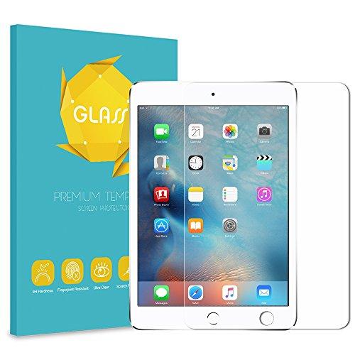 Fintie iPad mini 4 Tempered Glass Screen Protector, Anti Scratch Premium HD Clear 9H Hardness for Apple iPad mini 4 (2015 Release)