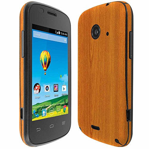 Skinomi TechSkin Light Wood Full Body Skin Protector Compatible with ZTE Zinger (T-Mobile)