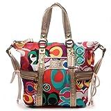 100% Authentic Coach Daisy Poppy C Print Pocket Tote Convertible Shoulder Messenger Crossbody Bag